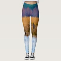 Flying Canadian Geese Leggings