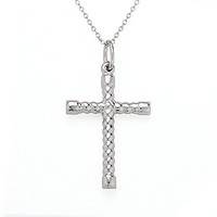 Sterling Silver Cross Charm Chain Necklace