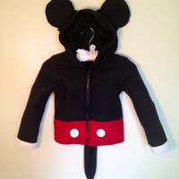 Disney Mickey Mouse inspired fleece hoodie shirt (adult sizes)