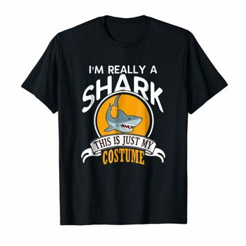 Shark Halloween Costume T-shirt This Is Just My Costume