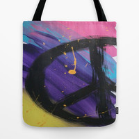 Peace Tote Bag by TooShai Studios