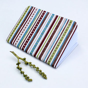 Southwestern Blue Green Brown Star Stripes Traveler's Notebook Journal Stationary Planner Insert Blank Pages Sketchbook