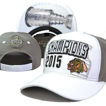 2015 New Arrival Hockey Hats Blackhawks Stanley Cup Champions Adjustable Ball Caps Snapback Cap Hats Hat