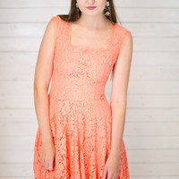 Bette Lace Scallop Dress