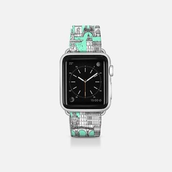 Paris toile aquamarine Apple Watch Band (38mm)  by Sharon Turner | Casetify