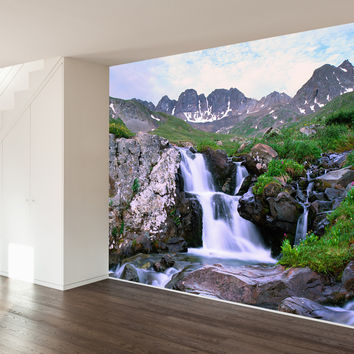 Paul Moore's Waterfall In The American Basin Mural wall decal