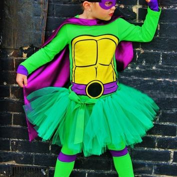 NINJA TURTLE TUTU CUSTOM COSTUME SET-INCLUDES LEGGINGS!
