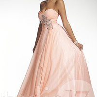 Full Length Strapless Sweetheart Dress