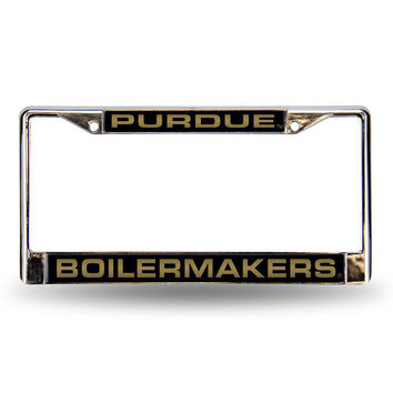 Purdue Boilermakers NCAA Laser Chrome Frame