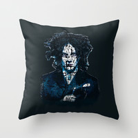 Typo-songs Jack White Throw Pillow by Daniac Design