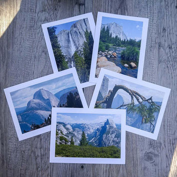 Yosemite National Park Photo Greeting Cards - Set of 5 Photo Cards of Yosemite Landmarks - Fine Art Photography - Nature Photography