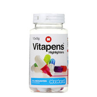 Pack of 10 Vitapens Highlighters - Multi