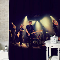 5sos concert special shower curtains that will make your bathroom adorable.