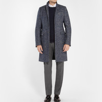 Jil Sander - Herringbone Wool, Alpaca and Mohair-Blend Overcoat | MR PORTER
