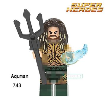 Building Blocks Aquaman Reverse-Flash Parademon Katana Super Hero Star Wars Set Bricks Dolls Kids DIY Toys Hobbies XH743 Figures