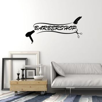 Vinyl Wall Decal Barbershop Barber Hair Salon Tools Hairdresser Decor Stickers Mural (ig5658)