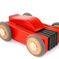 15 Piece Tegu Dart Magnetic Wooden Block Car