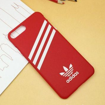 PEAPDQ7 Red Adidas Print Iphone 7 7plus & 6 6s Plus Cover Case + Gift Box