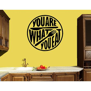 Wall Decal Quote Kitchen Words Phrase Cafe Restaurant Food Vinyl Sticker (ed1487)