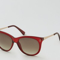 AEO Women's Berry Glam Sunglasses (Red)