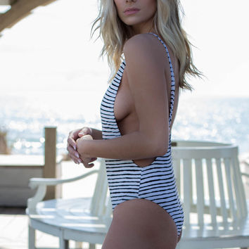 Norwegian Sea Striped One Piece