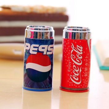 Novelty Cola Pepsi Drink Bottle Shape Pencil Sharpener Cutter Knife Promotional Gift Stationery
