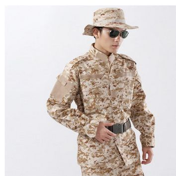 2018 new field military training camouflage suit CP ACU color Men's Clothing Set Suit For Airsoft Breathable quick dry training