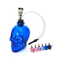 DCCKL72 Skull Pipe Smoking Filter Shisha Hookah Double Circulation Water Pipe Tobacco Types Cigarette Holder Pipes For Smoking Weed