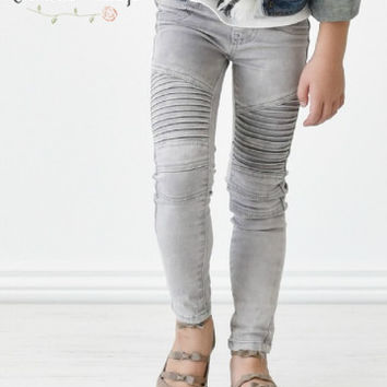 Moto Jeggings in Gray (Girls)