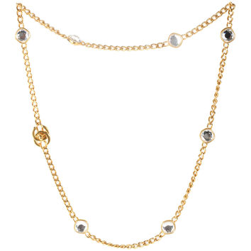 Chanel Chain Necklace with Crystals