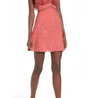 KEEPSAKE THE LABEL Unravelled Minidress Mineral Red $165