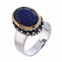 Arvino Sterling Silver Ring with Lapis Gemstone
