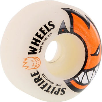 Spitfire Bighead 50mm White/Orange Skate Wheels