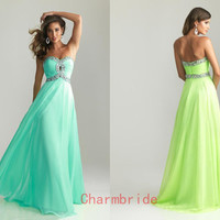 Hot sale Fashion Prom dresses Long Cocktail dresses Green dress Beautiful bridesmaid dress