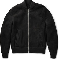 Acne Studios - Otto Reversible Shearling and Suede Bomber Jacket | MR PORTER