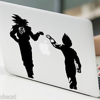 Goku and Vegeta Fist Pump DBZ Decals Stickers For Macbook 13 Pro Air Decal
