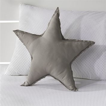 Grey Star Throw Pillow