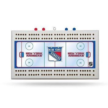 New York Rangers NHL Licensed 2 Track Cribbage Board