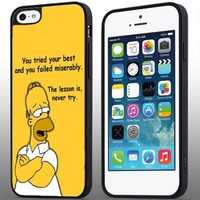 The Simpsons Quotes Iphone 4/4s 5 5c 6 6plus Case (iphone 6 black)