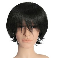 12 Inch Short Straight Men Hair Wig Colored Cosplay Wig Heat Friendly Party Costume Wig