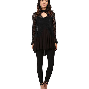 Free People Tell Tale Lace Tunic Black - Zappos.com Free Shipping BOTH Ways