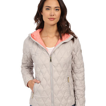 MICHAEL Michael Kors Zip Front Hooded Lightweight Down M822107R