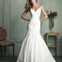 Allure Bridals 9111 Off The Shoulder Wedding Dress