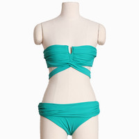 ezel criss-cross teal bikini - $42.99 : ShopRuche.com, Vintage Inspired Clothing, Affordable Clothes, Eco friendly Fashion
