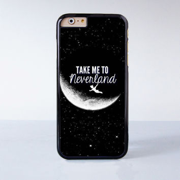 Peter Pan Take me to neverland Plastic Phone Case For iPhone 6  More Style For iPhone 6/5/5s/5c/4/4s iPhone X 8 8 Plus