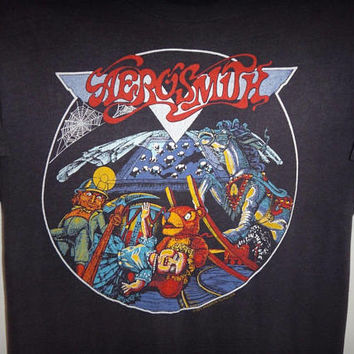 Vintage Aerosmith Night In The Ruts 1979 T Shirt