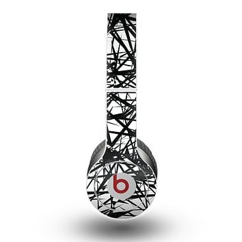 The Black and White Shards Skin for the Beats by Dre Original Solo-Solo HD Headphones