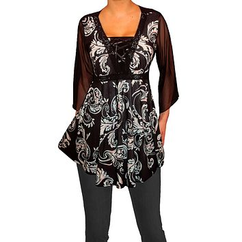 Gothic Lace-Up Top Made in USA
