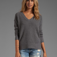 360 Sweater Luci Cashmere Sweater in Heather Grey