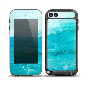The Grungy Blue Watercolor Surface Skin for the iPod Touch 5th Generation frē LifeProof Case